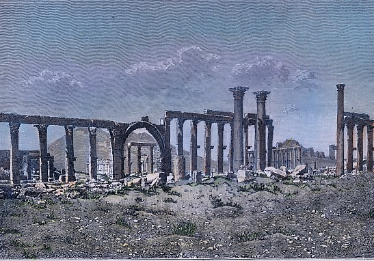 RUINES DE PALMYRE - LA COLONNADE