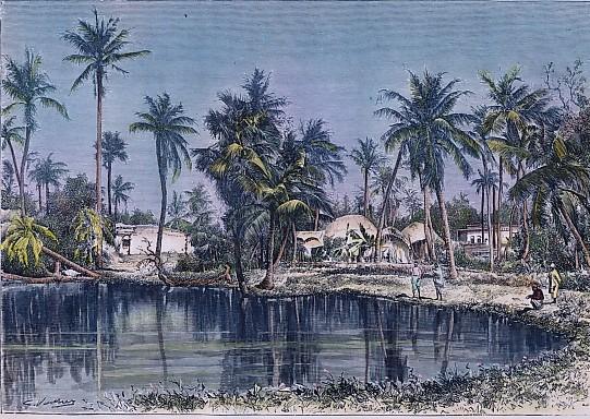 PAYSAGE DU BENGALE - vue prise près de Calcutta