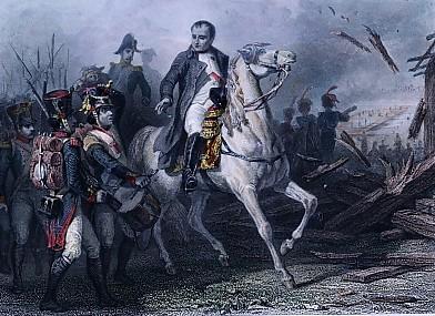 NAPOLÉON AU PASSAGE DE L'ELBE (9 mai 1813)