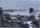 L'OU-BANGHI - vue prise au poste de Nkoundjia