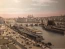 VUE DE LA SEINE, PRISE DU LOUVRE la Cité et le Pont-Neuf