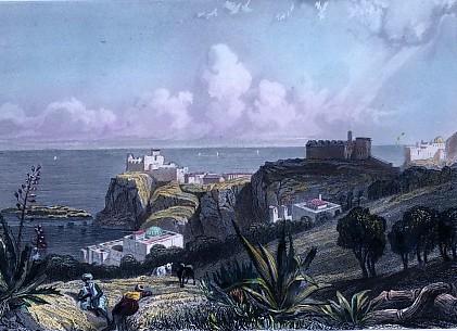 ALGERIA : LE CAP PESCADE, North Africa, old print, engraving, pl