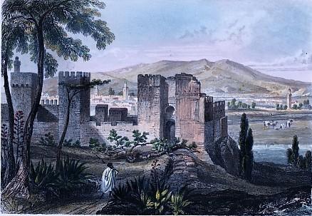 ALGERIA, TLEMSEN, Old print, engraving, plate, north africa