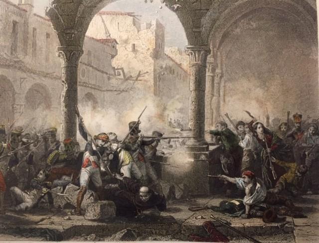 SIÈGE DE SARAGOSSE prise du couvent des capucins
