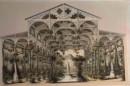 SALLE DE L'EXPOSITION GÉNÉRALE DES FLEURS DANS LE JARDIN D'HIVER DUCAL À BIEBRICH SUR LE RHIN EN MARS  1861