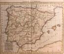 CARTE L'ESPAGNE ET LE PORTUGAL