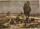 TEHERAN, Persia, engraving, print, plate