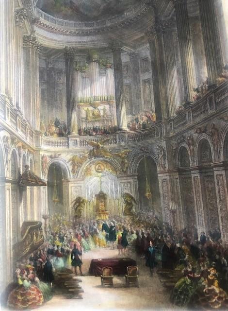 MARIAGE DE MARIE ANTOINETTE dans la chapelle du PALAIS DE VERSAILLES