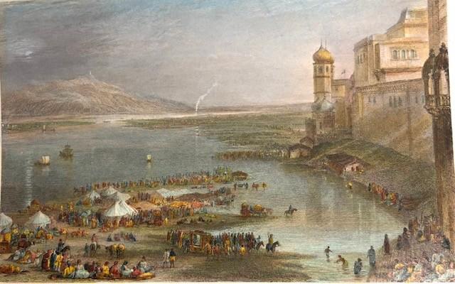 PILGRIMS AT THE SACRED FAIR OF HURDWAR